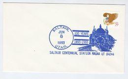 1993 SALTAIR PAVILLION Centennial MAGNA UTAH COVER EVENT  Pmk Bird Stamps Usa - United States