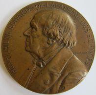M05244  HENRI MILNE EDWARDS - ACADEME DES SCIENCES - 1857-1880 - Son Buste (142g) Leçons Sur L'anatomie Et... Au Revers - Professionnels / De Société