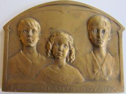 M05246   LES ENFANTS ROYAUX  - Leurs Bustes (80g) Royaume De Belgique Au Revers - Royal / Of Nobility