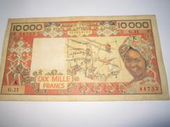 ---1 Billet 10.000 Francs SÉNÉGAL-AFRIQUE-DE-L'OUEST-(non Daté-1983-G.21-44753 - Senegal
