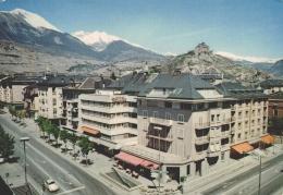 CPSM Suisse - Sion - L'avenue De La Gare Et Le Château De Valère - VS Valais