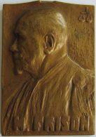 M05257  M FRISON - AVOCAT COUR D'APPEL BRUXELLES  1887-1937 - Son Buste (112g) - Professionnels / De Société