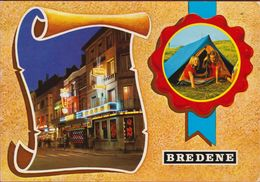 Grote Kaart Grand Format Bredene Groeten Uit 1979 - Bredene