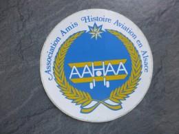 AVIATION Autocollant AAHAA, Amis Aviation ALSACE    ; Ref  706 VP 35 - Aufkleber