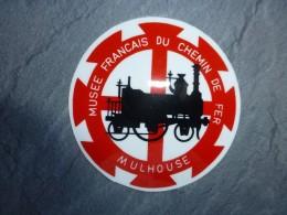 AVIATION Autocollant Mulhouse Musée Du Chemin De Fer ; Ref  716 VP 35 - Transports