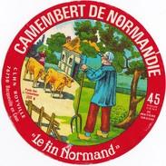 """étiquette Camenbert De Normandie """"le Fin Normand"""" A Bacqueville En Caux ´(seine Maritime) - Fromage"""
