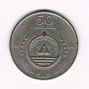 )  CABO  VERDE  50 ESCUDOS  1994 - Kaapverdische Eilanden
