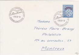 No 350 Sur Lettre Oblitérée Conférence Européenne Des PTT - Réunion Constitutive MONTREUX Le 2.VII.59 - Suisse