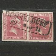 Preussen. König Friedrich Wilhelm IV., Paar Nr. 10 Stempel Düsseldorf - Preussen