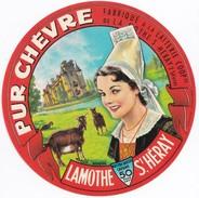 étiquette Pur Chèvre Fabriqué à La Laiterie De La Mothe St Heray (2 Sèvres) - Fromage