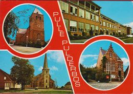 Grote Kaart Grand Format Zandhoven Pulle Pulderbos (lichte Kreuk) - Zandhoven