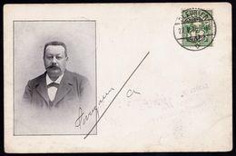 CARTE PERSONALISEE AVEC PHOTO ** AVOCAT PERREGAUX De FLEURIER ** Signée Par L'avocat Lui-même En 1906 - NE Neuchâtel