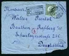 A4884) Yugoslavia R-Brief Von Bitolj 20.12.21 Nach Beuthen - 1919-1929 Königreich Der Serben, Kroaten & Slowenen