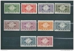 Colonie Timbres Taxes Du Sénégal  De 1935  N°22 A 31  Neufs * - Postage Due