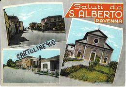 Emilia Romagna-ravenna-saluti Da S.alberto Ravenna Vedute Scuola Chiesa Via B.nigrisoli - Autres Villes