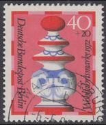 !b! BERLIN 1972 Mi. 437 USED SINGLE (l) - Chess Pieces: Queen - [5] Berlin