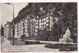 Suisse   - Vaud - Territet - Riant Château Regina Et Statue De L'Impératrice Elisabeth -  Achat Immédiat - VD Waadt