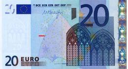 EURO MALTA 20 F R027 UNC DRAGHI - EURO
