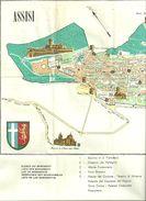 Assisi (Perugia) Carta Topografica, Elenco Monumenti, Piantine Chiese Inferiore E Superiore Basilica S. Francesco - Carte Topografiche