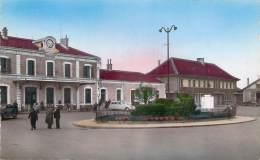 74 - Annemasse - La Gare (transports Bourgey & Montreuil) (colorisée) - Annemasse