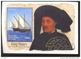 CONGO   1582  MINT NEVER HINGED SOUVENIR SHEET OF SHIPS  ; KING HENRY OF PORTUGAL - Boten