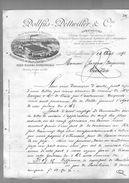 Courrier Illustré Usine Sausheim Tissu Filature Tissage Papier Peints Dollfus Dettwiller & Cie Mulhouse 26-08-1892 - 1800 – 1899
