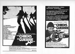 Affichettes Film Les Chiens De Guerre 1980 - Fotos