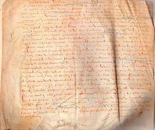 NICOLAS DE CHAUMONT .1584.parchemin :25 X 24 Cm - Documents Historiques