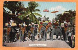 Myanmar Burma 1909 Postcard Mailed - Myanmar (Burma)