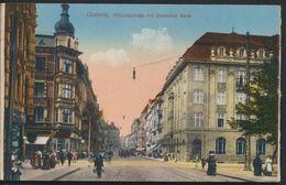 °°° 5043 - GERMANY - GLEIWITZ - WILHELMSTRASSE MIT DEUTSCHER BANK °°° - Schlesien