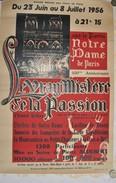 Affiche Le Vrai Mystère De La Passion Notre-Dame- De Paris 1956 - Afiches