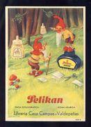 Buvard PELIKAN Num.1909 R. Encre, Gnomes (Ref. 99696) - Buvards, Protège-cahiers Illustrés