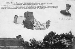 Le Comte De Lambert élève De Wilbur Wright Pilotant Un System Wright  -  CPA - Flieger