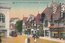 CPA 14 - DEAUVILLE - PLAGE FLEURIE -Rue Du Casino - Deauville