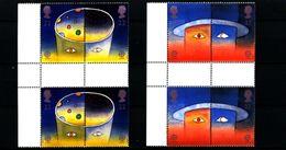 GREAT BRITAIN - 1991  SPACE EUROPA  GUTTER PAIRS  UNFOLDED  SET  MINT NH - 1952-.... (Elisabetta II)