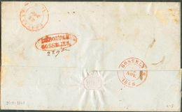 LSC De FLORENNES Le 21 Novembre 1848 + Boîte R De X Vers Gosselies (biffé) Renvoi à Châtelet (au Verso : Ovale Rouge DEB - 1830-1849 (Belgique Indépendante)