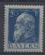 Bayern 1911 Prinzregent Luitpold (*) LMH Mi.79 I A (type I) - Bavière