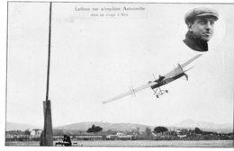 Latham Sur Aéroplane Antoinette Dans Un Virage à Nice  -  CPA - Aviadores