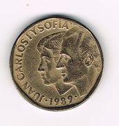 )  SPANJE 500 PESETAS 1989  JUAN CARLOS And  SOFIA - [ 5] 1949-… : Royaume