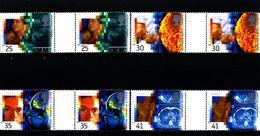 GREAT BRITAIN - 1994  MEDICAL  EUROPA  GUTTER PAIRS  UNFOLDED  SET  MINT NH - 1952-.... (Elisabetta II)