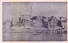INDIA - VERY OLD AND RARE BLACK & WHITE PICTURE POST CARD - SCENES OF VARANASI / BENARES - PANCHA GANGA GHAT - India