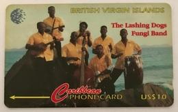 Laying Dog Fungi Band 103CBVD (Tall Italic Font) - Virgin Islands