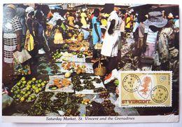 CPM SAINT VINCENT MARCHE DU SAMEDI CARTE POSTALE EDITIONS W.I. - Saint-Vincent-et-les Grenadines