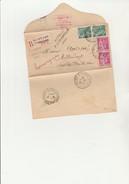 LETTRE RECOMMANDEE AFFRANCHIE N° 369 ET 411 (2 EXEMPLAIRES DE CHAQUE) OBLITEREE CAD MONTFORT -L'AMAURY -1939 - Marcophilie (Lettres)
