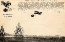 Le Biplan Construit Par Les Frères Voisin, Piloté Par Mme La Baronne De La Roche  -  CPA - Flieger