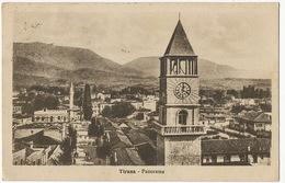 Tirana Panorama  P. Used 2 Stamps 1935 Edit Guga E Shoki To Beograd Serbia - Albania