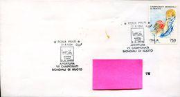 24883 Italia, Special Postmark Roma 1994  World Swimming Champ.  Champ. Mondial Natation - Swimming