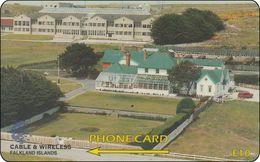 Falkland Phonecard Goverment House And The Community School - Falkland Islands