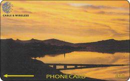 Falkland Phonecard Sunset Over Port Stanley - Falkland Islands