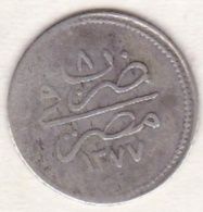 Empire Ottoman. 1 Qirsh AH 1277 Year 8. Abdul Aziz,  En Argent. KM# 250 - Egypte